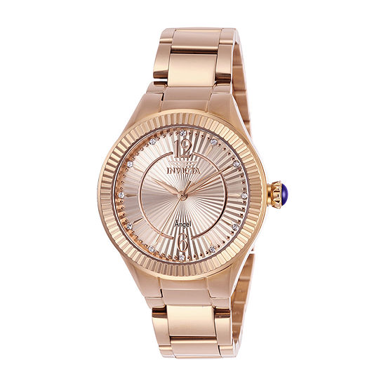 Invicta Angel Womens Rose Goldtone Stainless Steel Bracelet Watch-28332