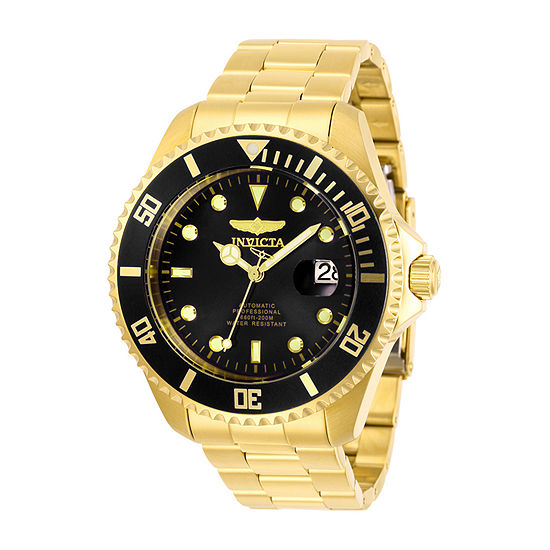Invicta Pro Diver Mens Gold Tone Stainless Steel Bracelet Watch-28948