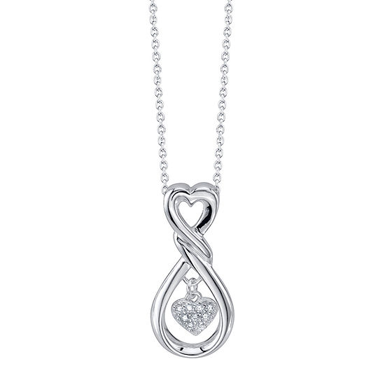 Footnotes Daughter Cubic Zirconia Sterling Silver 16 Inch Cable Pendant Necklace