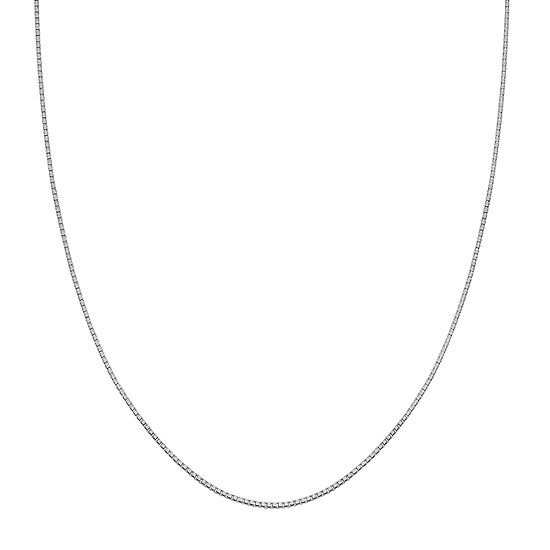 Silver Treasures Sterling Silver 20 Inch Box Chain Necklace