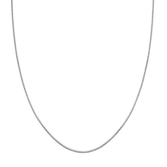 Silver Treasures Sterling Silver 24 Inch Box Chain Necklace