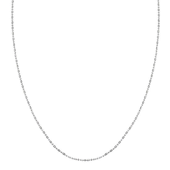 Silver Treasures Sterling Silver 24 Inch Bead Chain Necklace