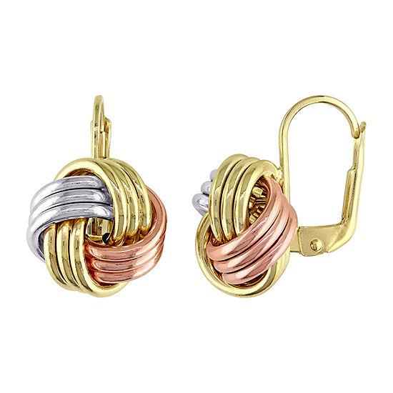 10K Gold Knot Drop Earrings