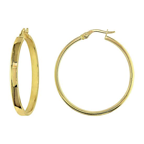 10K Gold 32mm Hoop Earrings