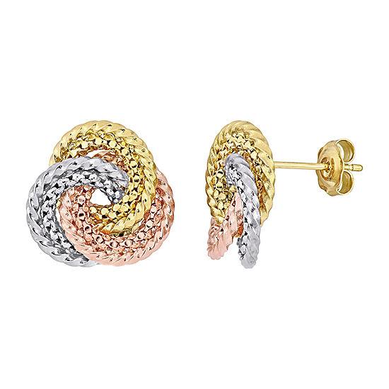 10K Gold Knot Ear Pins