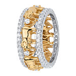 Womens 9.5MM 1 3/8 CT. T.W. White Cubic Zirconia 18K Gold Over Brass Band