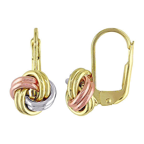10K Gold Knot Drop Earrings