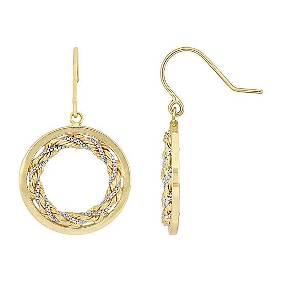 10K Gold Infinity Chandelier Earrings