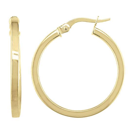 10K Gold 24mm Hoop Earrings