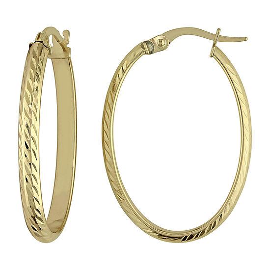 10K Gold 29mm Hoop Earrings