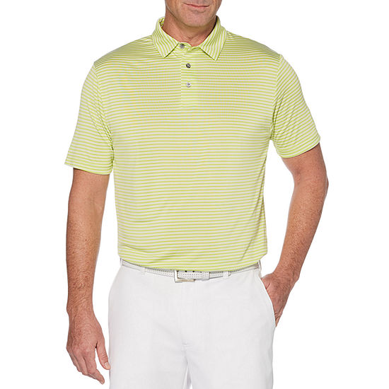 PGA TOUR Mens Crew Neck Short Sleeve Polo Shirt