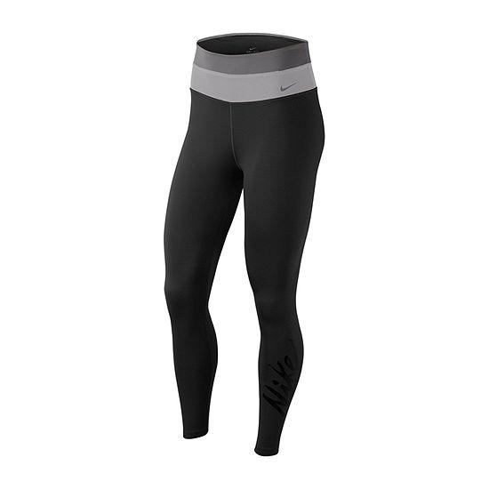 Nike Womens Mid Rise Full Length Leggings
