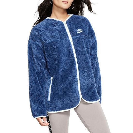 Nike Womens Crew Neck Long Sleeve Quarter-Zip Pullover