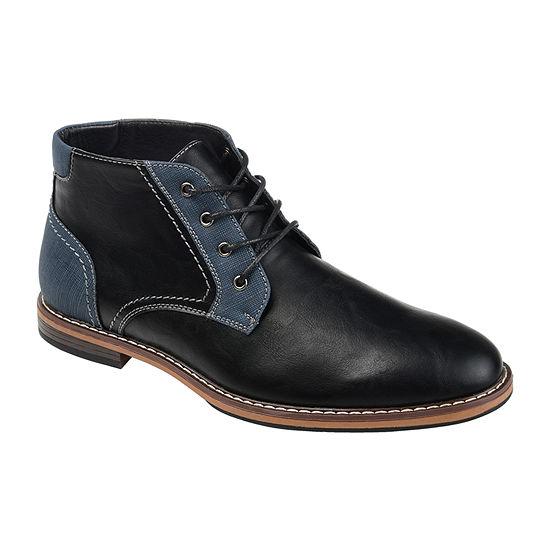 Vance Co Mens Franco Chukka Block Heel Boots