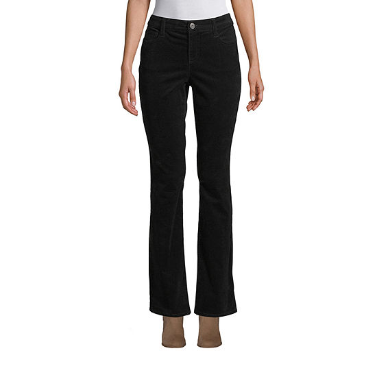 St. John's Bay Womens Mid Rise Belly Bootcut Corduroy Pant