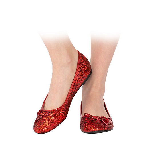 Adult Red Glitter Shoe Costume