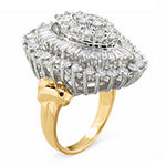 4 CT. T.W. Genuine Diamond 10K Two-Tone Gold Marquise Ring