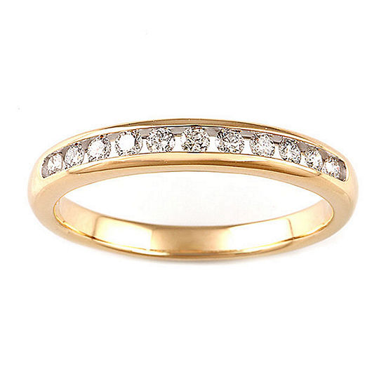 Womens 1 CT. T.W. Genuine White Diamond 10K Gold Engagement Ring