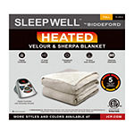 Sleep Well™ by Biddeford™ Velour Sherpa Heated Blanket