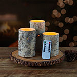 Mikasa Birch Glitter 3-pc. Flameless Candle