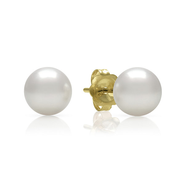14K Yellow Gold Akoya Pearl Earrings