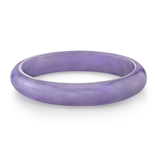 Lavender Colored Quartz Bangle Bracelet