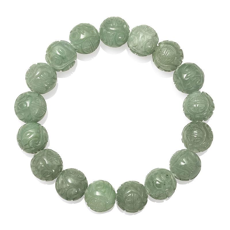 Green Jade Stretch Bracelet
