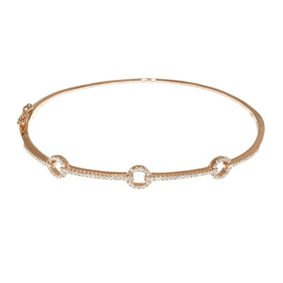 1/3 CT. T.W. Diamond 14K Rose Gold Bangle Bracelet