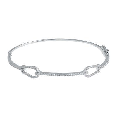 1/3 CT. T.W. Diamond 14K White Gold Bangle Bracelet