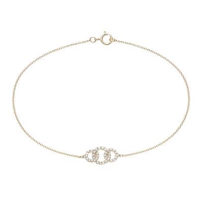 1/5 CT. T.W. Diamond 14K Yellow Gold Bracelet