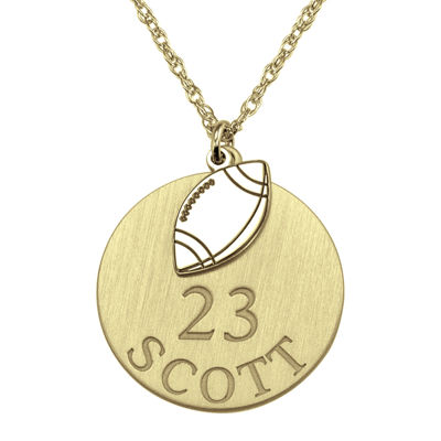 Personalized Football 20mm Pendant Necklace