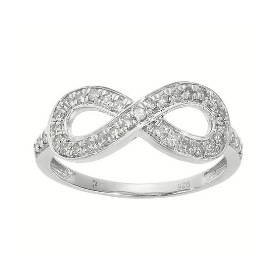 1/3 CT. T.W. Diamond Sterling Silver Infinity Ring