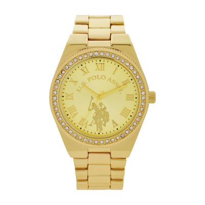 U.S. Polo Assn. Womens Gold Tone Bracelet Watch-Usc40224jc