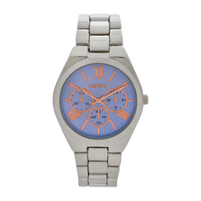 Geneva Womens Silver Tone Bracelet Watch-Wac8549jc