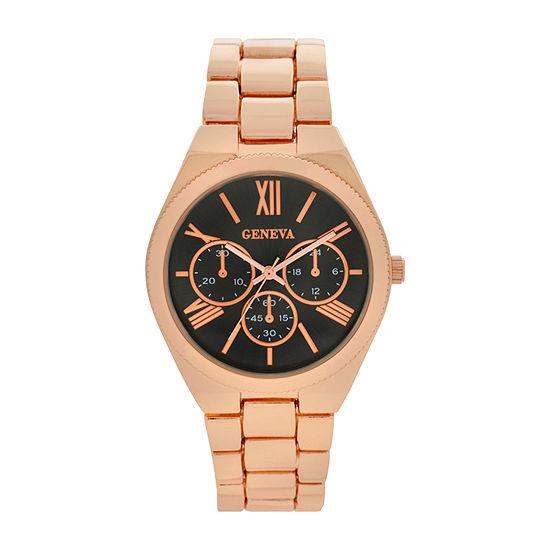 Geneva Womens Gold Tone Bracelet Watch-Wac8550jc