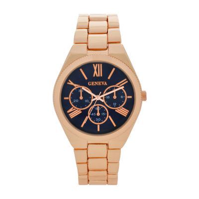 Geneva Womens Gold Tone Bracelet Watch-Wac8551jc