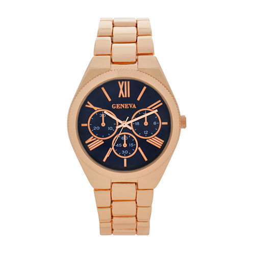 Geneva Womens Gold Tone Bracelet Watch-Wac8551jc