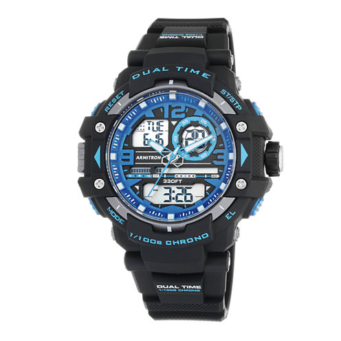Armitron® Mens Blue Strap Digital Watch