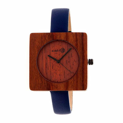 Earth Wood Unisex Red Strap Watch