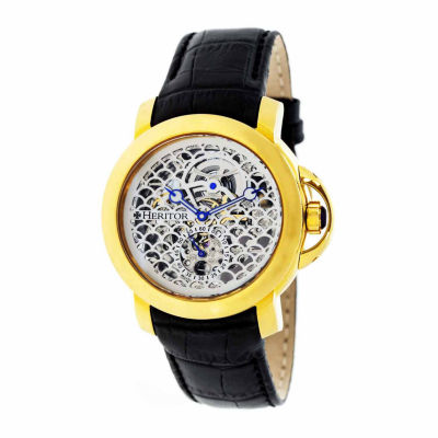 Heritor Mens Black Strap Watch-Herhr4003