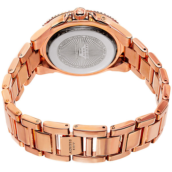 Akribos XXIV Womens Rose Goldtone Bracelet Watch-A-789rg
