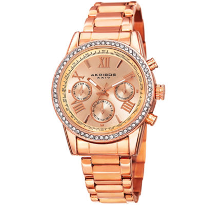 Akribos XXIV Womens Rose Goldtone Bracelet Watch-A-872rg