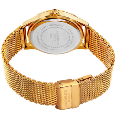 Akribos XXIV Mens Gold Tone Bracelet Watch-A-901ygb