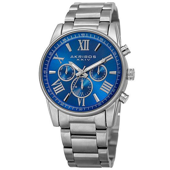 Akribos XXIV Womens Multi-Function Silver Tone Bracelet Watch-A-908bu