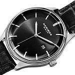 Akribos XXIV Mens Black Strap Watch-A-914ssb