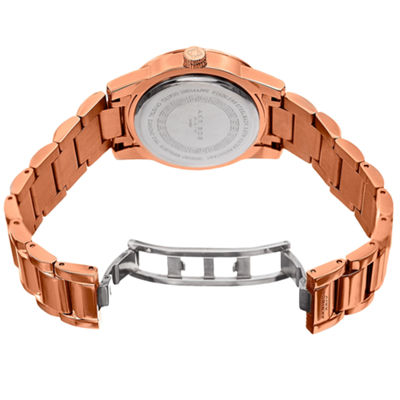 Akribos XXIV Womens Rose Goldtone Bracelet Watch-A-928rgbr