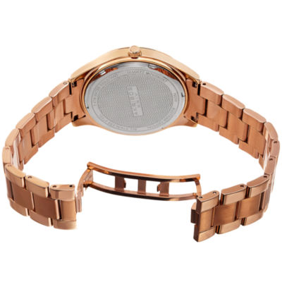 Akribos XXIV Womens Brown Bracelet Watch-A-954rgbr