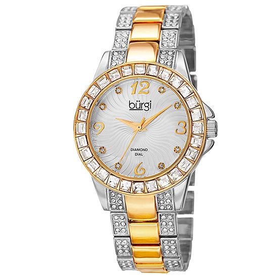 Burgi Womens Two Tone Bracelet Watch B 137ttg