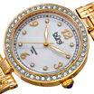 Burgi Womens Gold Tone Bracelet Watch-B-136yg