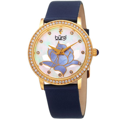 Burgi Womens Blue Strap Watch-B-159bu
